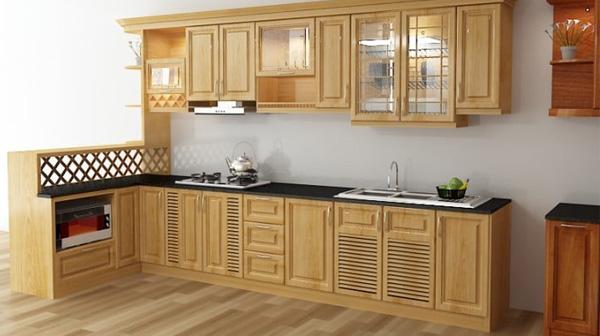 Đóng tủ bếp bằng chất liệu gì tốt nhất ?