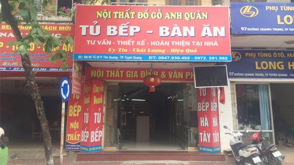 Thiết kế - Thi công tủ bếp tại Tuyên Quang