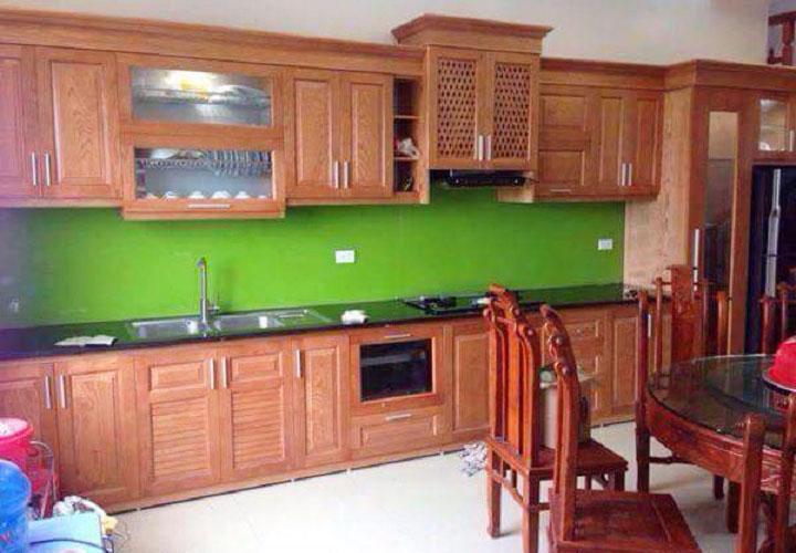 Tủ bếp gỗ xoan đào XD05