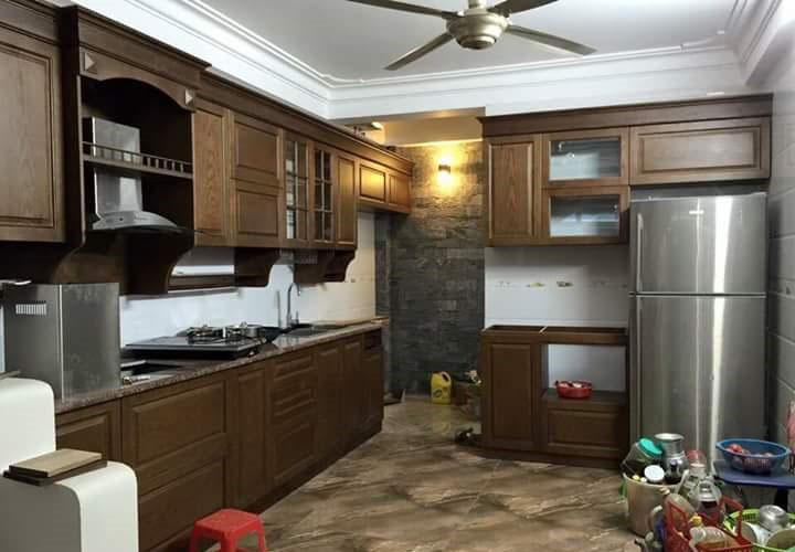 Tủ bếp gỗ xoan đào - XD04