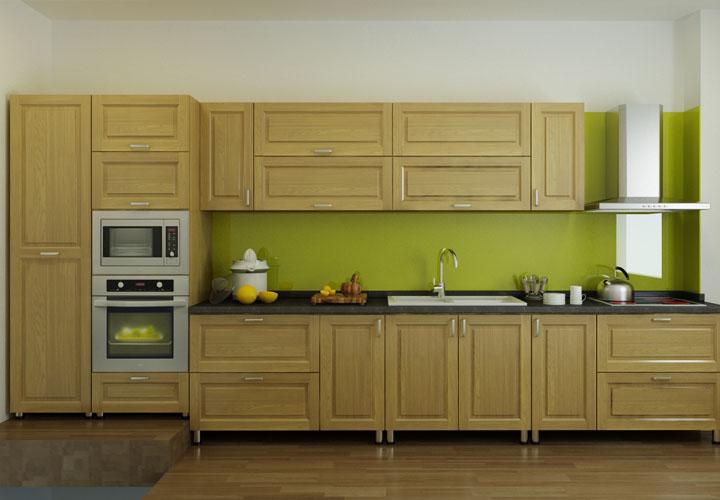 Tủ bếp gỗ sồi Nga SN02
