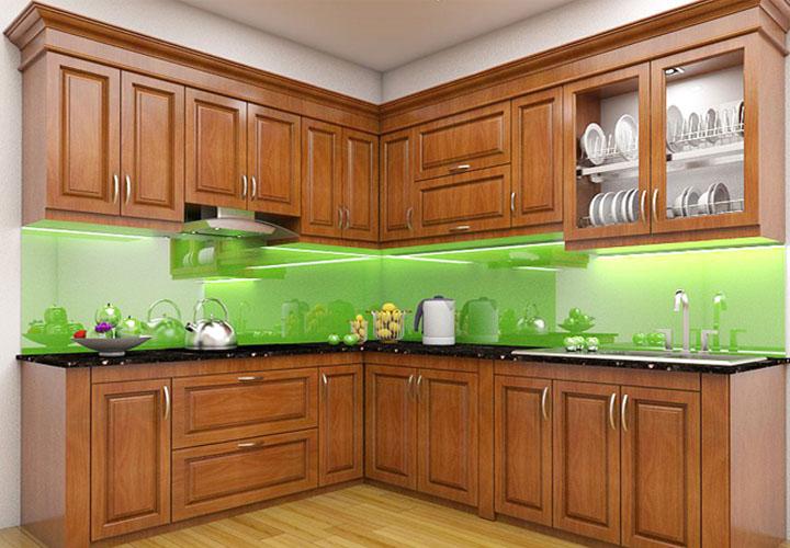 Tủ bếp gỗ xoan đào XD01