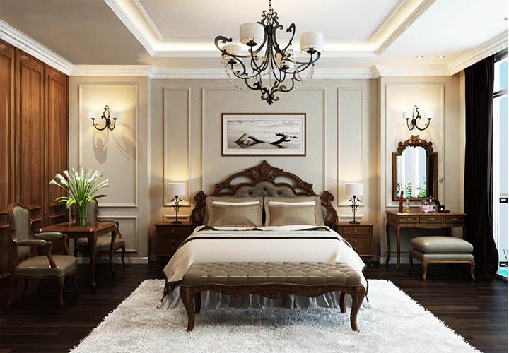 Nội thất phòng ngủ kiểu cổ điển