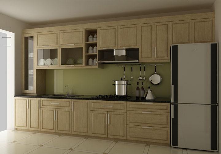 Tủ bếp gỗ sồi Nga SN01