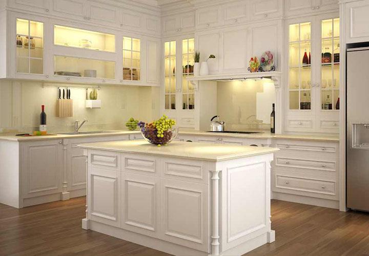 Tủ bếp gỗ sồi Nga SN05