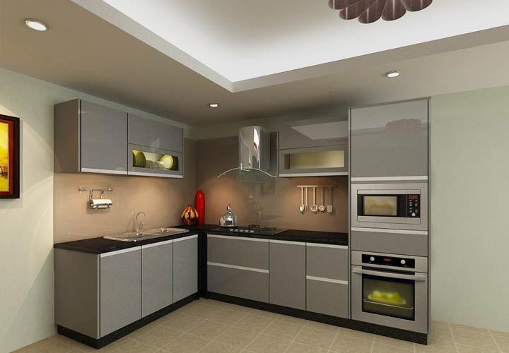 Tủ bếp inox cánh Acrylic AL01