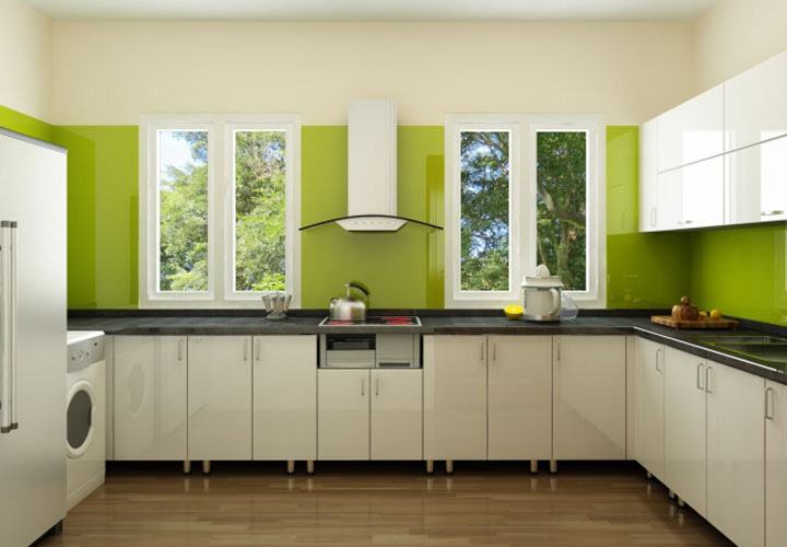 Tủ bếp inox cánh Acrylic AL02