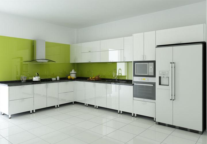 Tủ bếp inox cánh Acrylic AL03