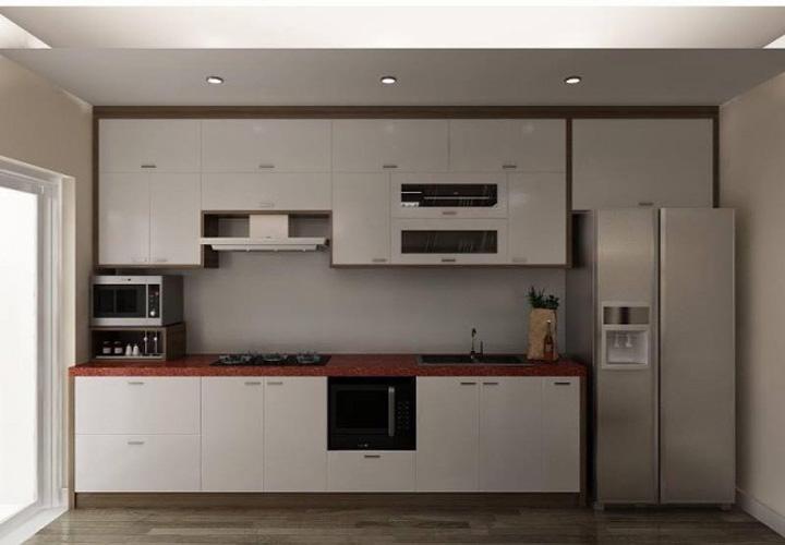 Tủ bếp gỗ nhựa Picomat mặt cánh Acrylic PM02