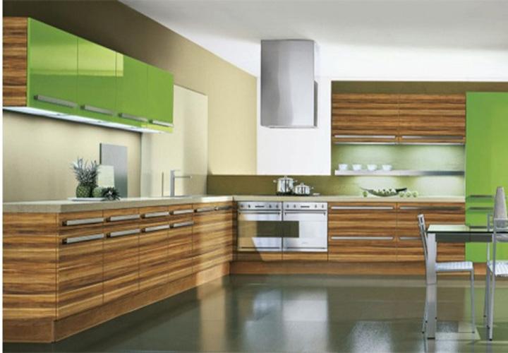 Tủ bếp gỗ An Cường mặt cánh Acrylic AC06