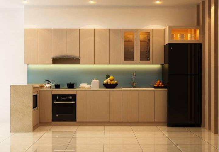 Tủ bếp gỗ An Cường laminate AC07
