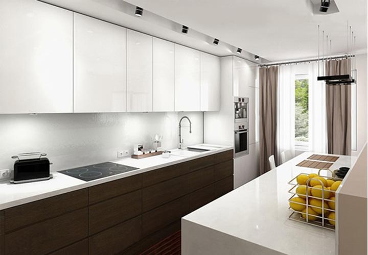 Tủ bếp gỗ An Cường laminate AC10