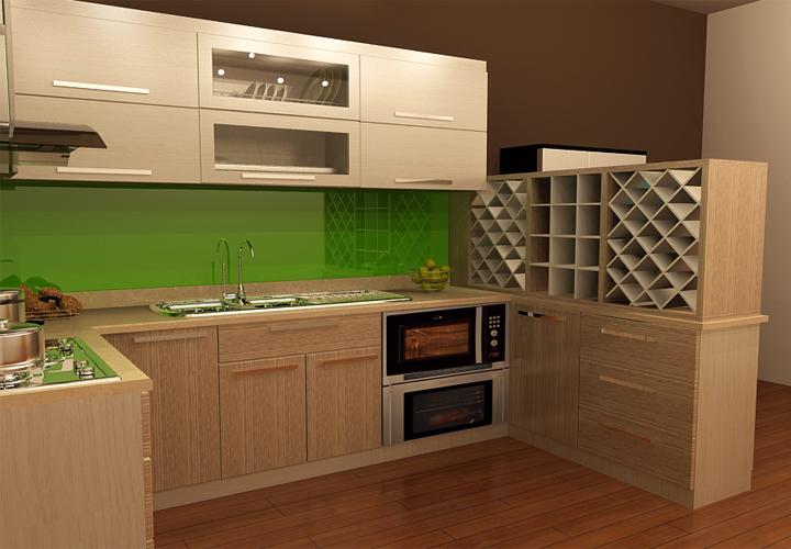 Tủ bếp gỗ công nghiệp Melamine