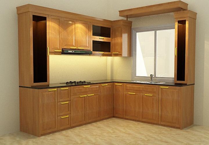 Tủ bếp gỗ xoan đào XD08