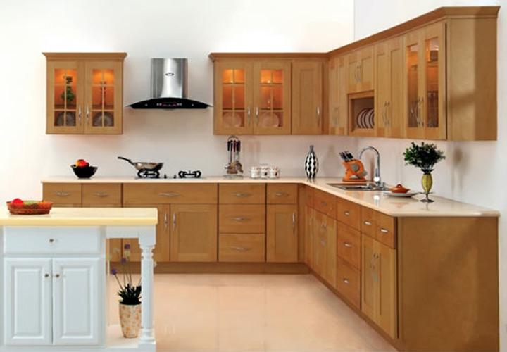Tủ bếp gỗ xoan đào XD10