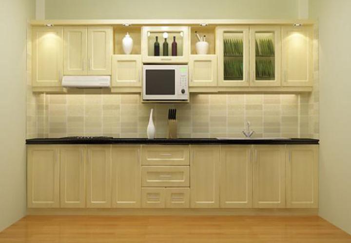 Tủ bếp gỗ sồi Nga SN06