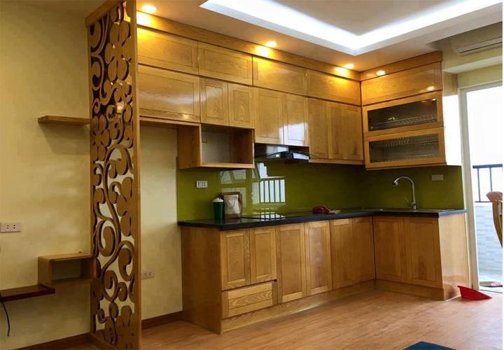 Tủ bếp gỗ sồi Nga SN07