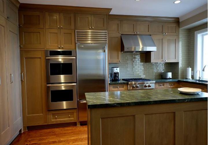 Tủ bếp gỗ sồi Nga SN08