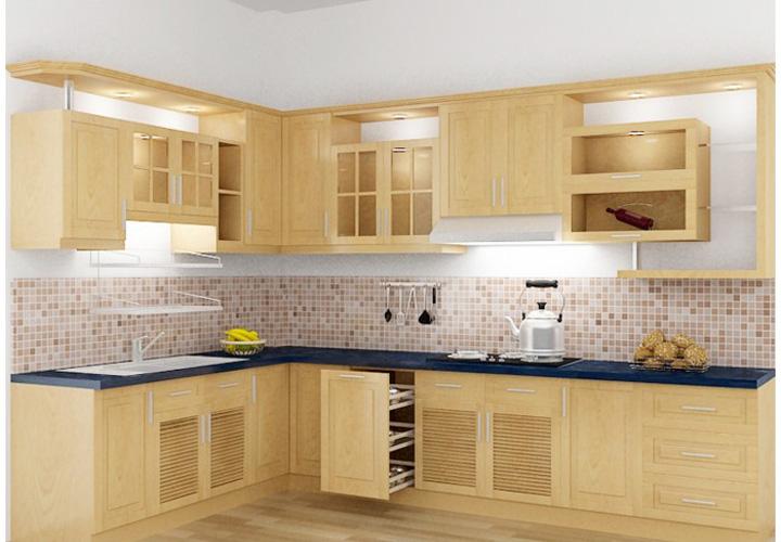 Tủ bếp gỗ sồi Mỹ SM01