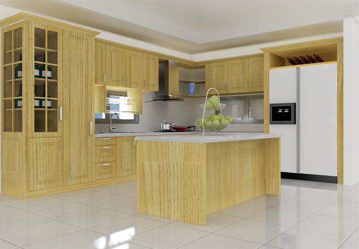 Tủ bếp gỗ sồi S04