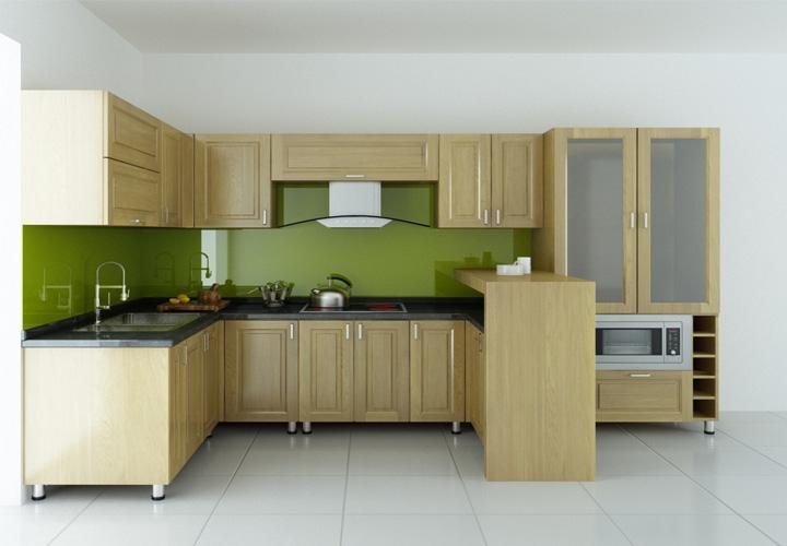 Tủ bếp gỗ sồi S05