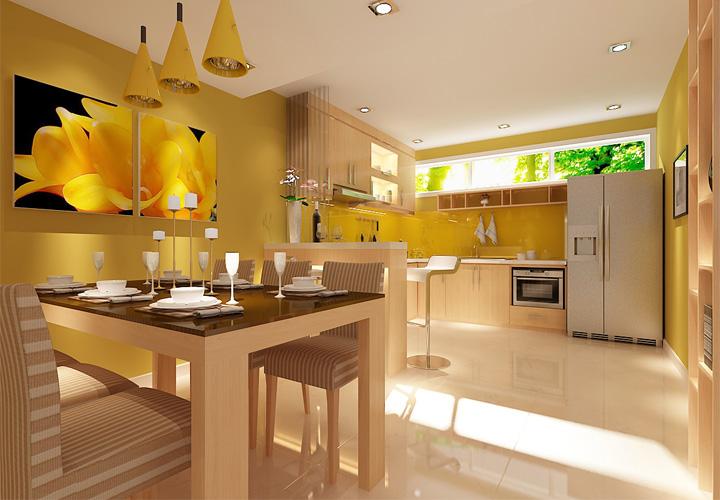 Tủ bếp gỗ An Cường AC11