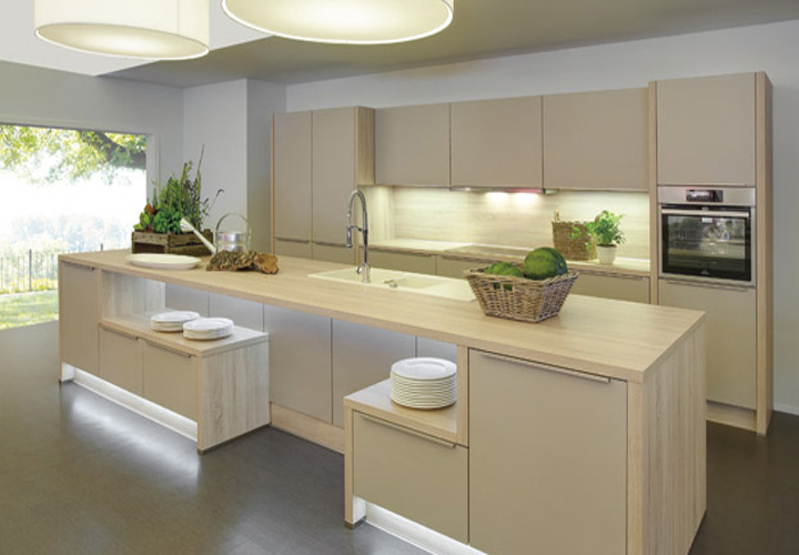 Tủ bếp gỗ Laminate LMT13