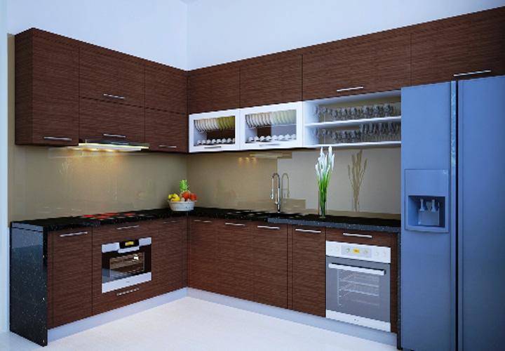 Tủ bếp gỗ Laminate LMT14