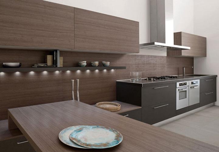 Tủ bếp gỗ Laminate LMT16