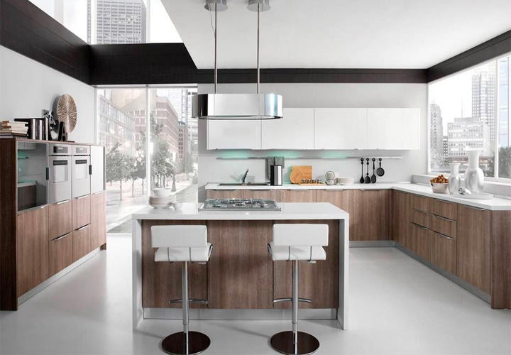 Tủ bếp gỗ Laminate LMT17