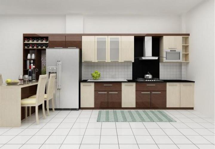 Tủ bếp gỗ Laminate LMT22
