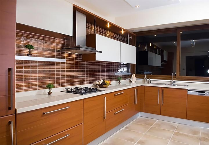 Tủ bếp gỗ Laminate LMT28