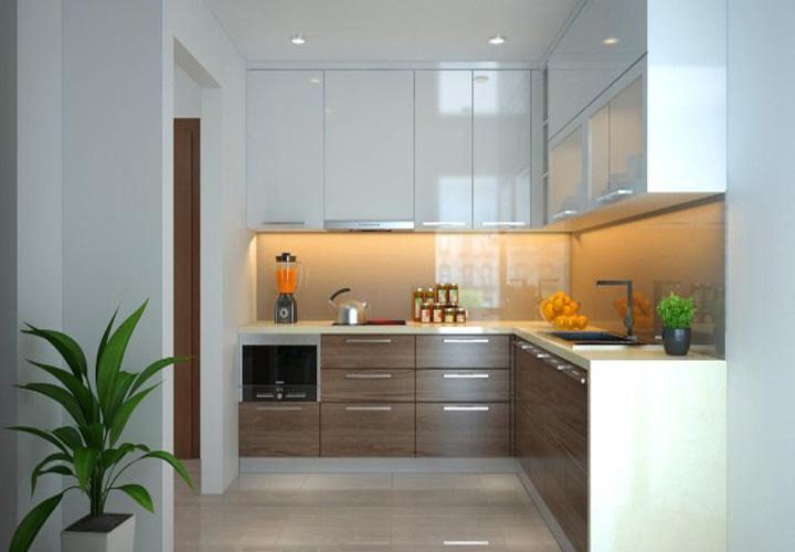 Tủ bếp gỗ công nghiệp CN11