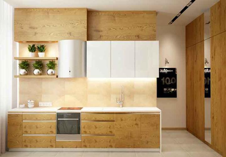Tủ bếp gỗ An Cường AC28