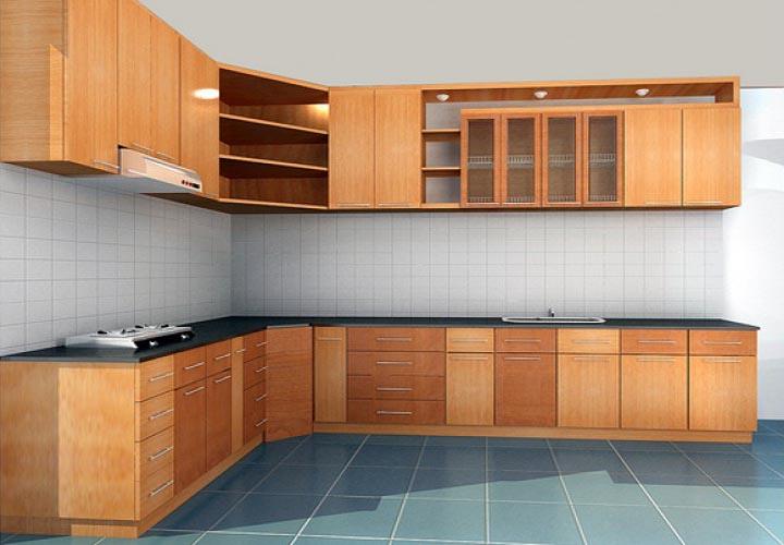 Tủ bếp gỗ xoan đào XD18