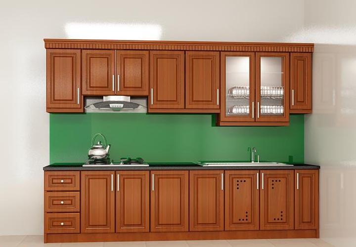 Tủ bếp gỗ xoan đào XD20
