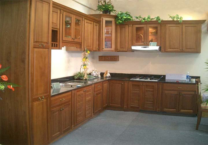 Tủ bếp gỗ xoan đào XD23
