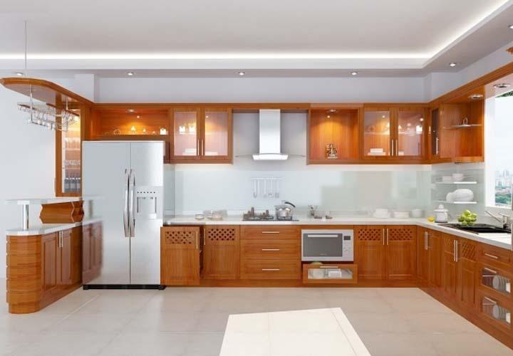 Tủ bếp gỗ xoan đào XD24
