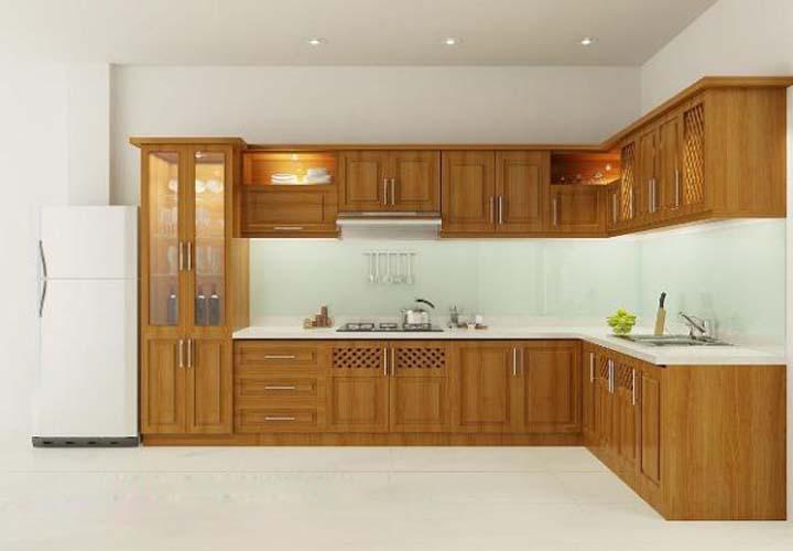 Tủ bếp gỗ xoan đào XD25