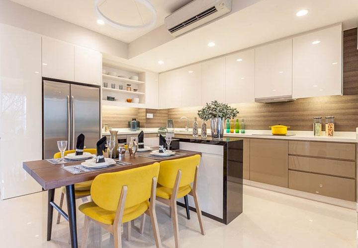 Tủ bếp Acrylic AC5