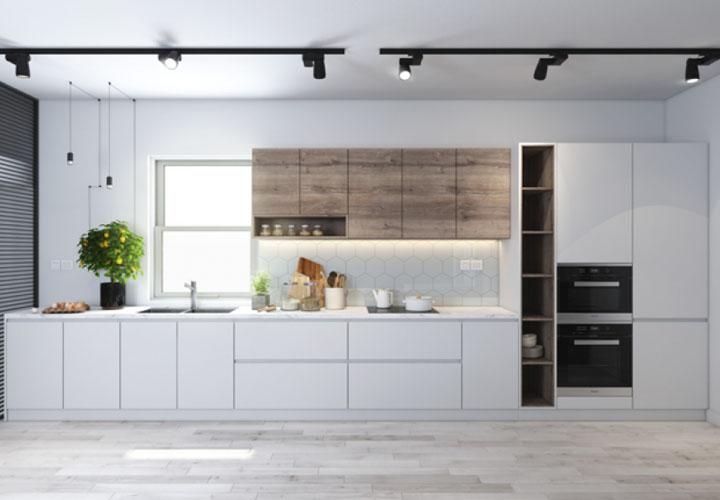 Tủ bếp Acrylic chữ I- AC6