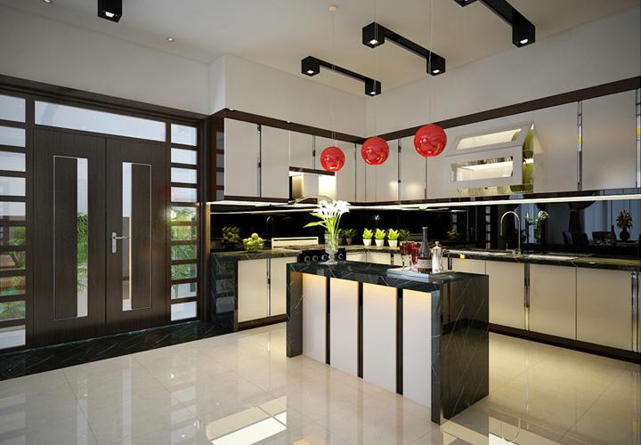 Tủ bếp Acrylic - AC24