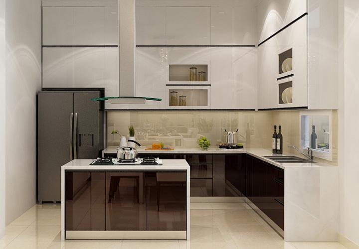 Tủ bếp Acrylic - AC31