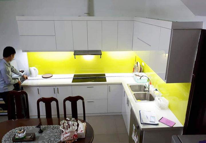 Tủ bếp Acrylic - AC34